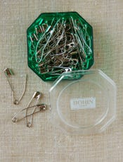 Quilter's Curved Safety Pins
