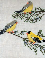 Goldfinches Crewel Kit