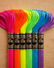Fluorescent Embroidery Floss Pack