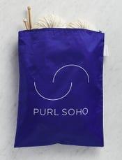 Purl Soho Recycled Zip Bag from Baggu, Cobalt