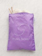Purl Soho Recycled Zip Bag from Baggu, Amethyst