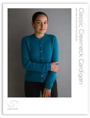 Classic Crewneck Cardigan Pattern Download
