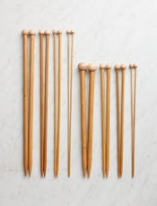 Crystal Palace Straight Bamboo Knitting Needles