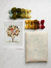 Partridge in a Pear Tree Crewel Kit