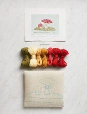 Western Fly Agaric Mushrooms Crewel Kit