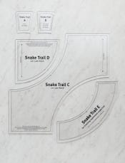 DSQ Snake Trail, Quilt Template