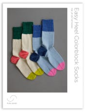 Easy Heel Colorblock Socks Pattern Download