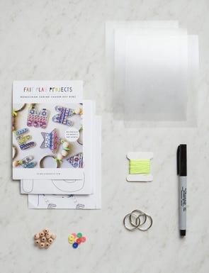 Monogram Shrink Charm Key Ring Kit
