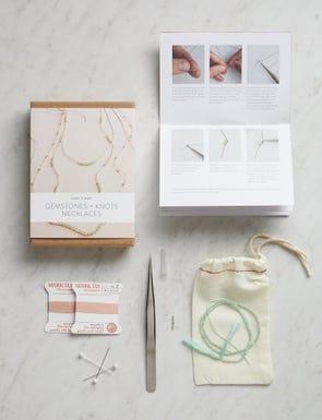 Gemstones + Knots Necklaces Kit