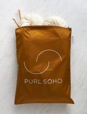 Purl Soho Recycled Zip Bag from Baggu, Bronze