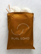 Purl Soho Recycled Zip Bag from Baggu, Bronze