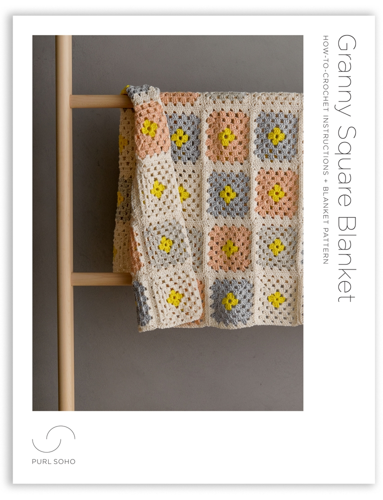 Purl Soho Crochet a Granny Square Blanket Pattern, pdf