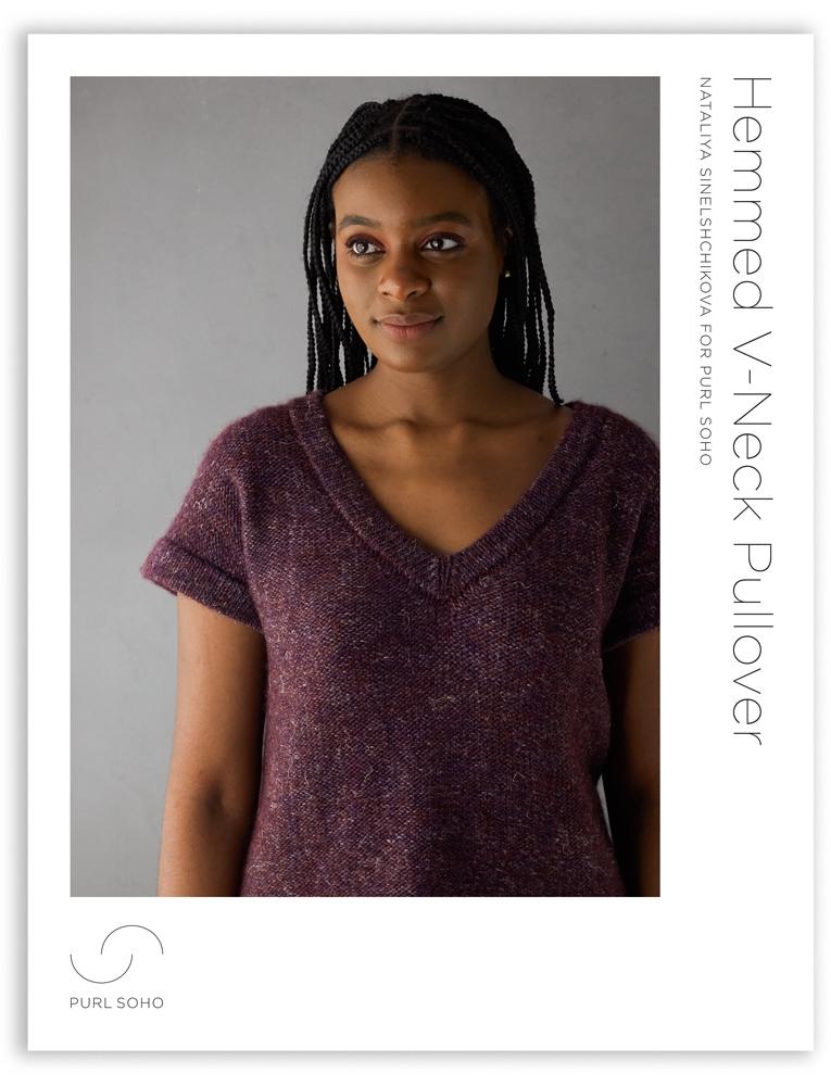 Purl Soho Hemmed V-Neck Pullover Pattern, pdf