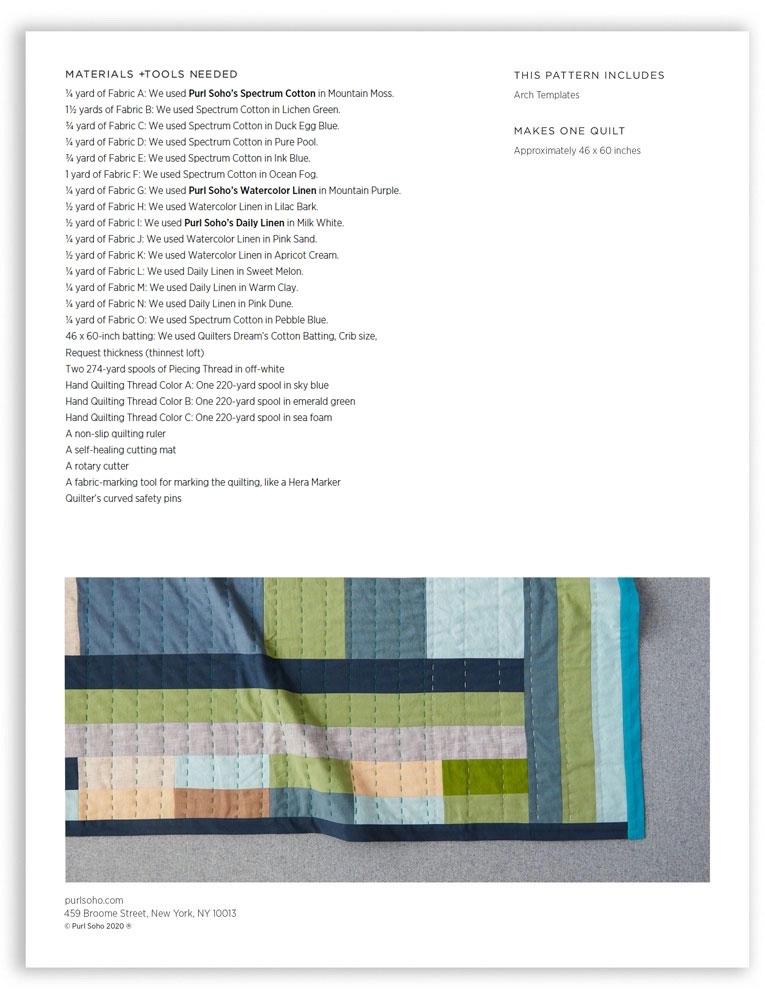 Purl Soho Neighborhood Quilt Pattern, pdf