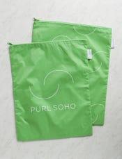 Purl Soho Recycled Zip Bags from Baggu: Aloe 2-Pack