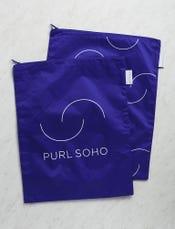 Purl Soho Recycled Zip Bags from Baggu: Cobalt 2-Pack