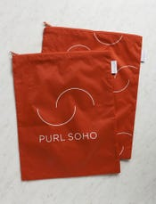 Purl Soho Recycled Zip Bags from Baggu: Tomato 2-Pack
