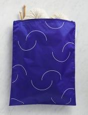 Purl Soho Recycled Zip Bag from Baggu, Cobalt Purl-Bump Logo
