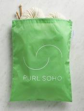 Purl Soho Recycled Zip Bag from Baggu, Aloe