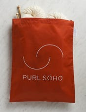 Purl Soho Recycled Zip Bag from Baggu, Tomato