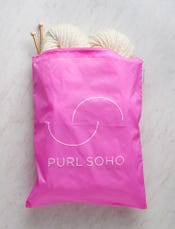 Purl Soho Recycled Zip Bag from Baggu, Bright Pink