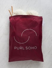 Purl Soho Recycled Zip Bag from Baggu, Cranberry