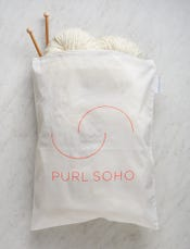 Purl Soho Recycled Zip Bag from Baggu, White