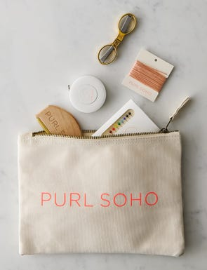 Purl Soho Canvas Notions Pouch, Neon