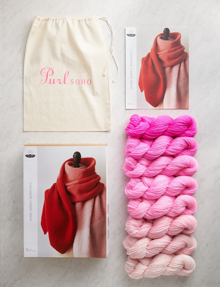 Purl Soho | Cashmere Ombré Wrap Kit | Bloom