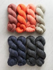Sundown, Small Throw-swatch