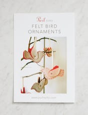 Felt Bird Ornaments Pattern Download