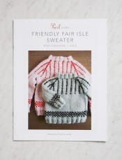Friendly Fair Isle Sweater Pattern