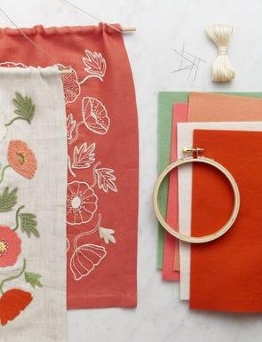 Poppy Garden Embroidery Kit