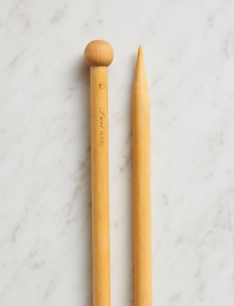 "*Purl Soho Straight Knitting Needles, US 15, 10"", Complete"