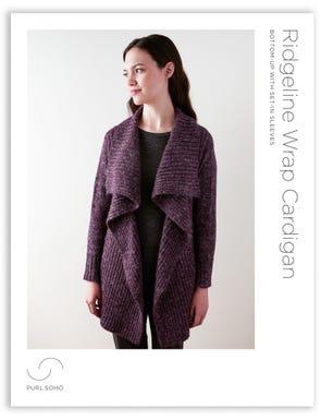 Ridgeline Wrap Cardigan Pattern Download