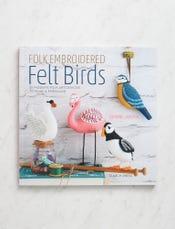 Folk Embroidered Felt Birds