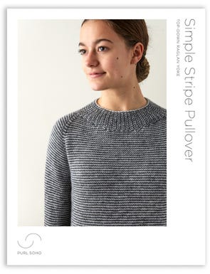 Simple Stripe Pullover Pattern Download