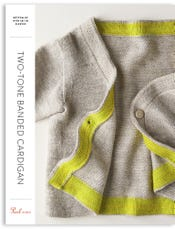 Two-Tone Banded Cardigan Pattern Download