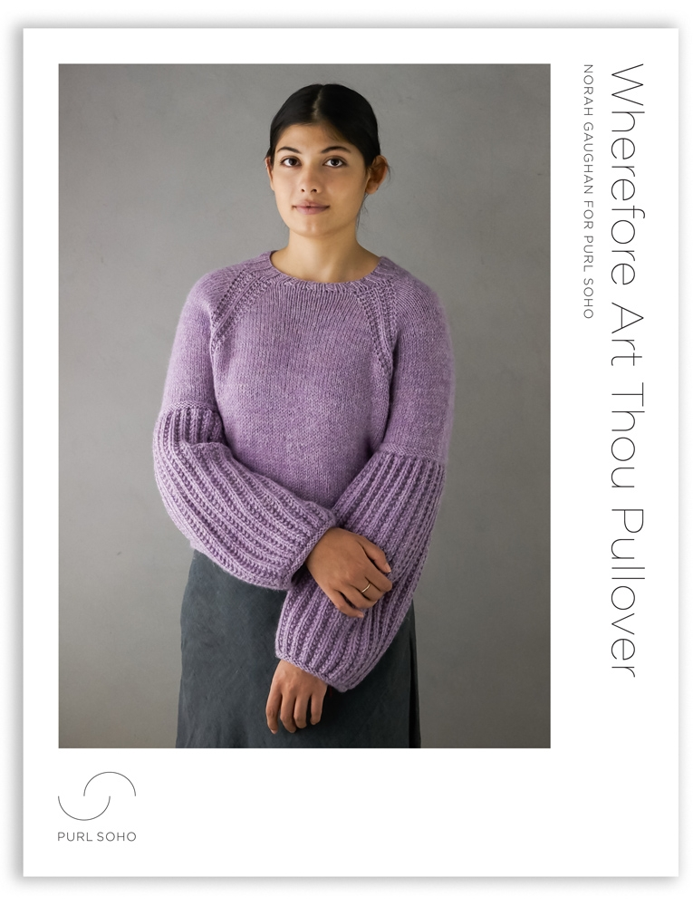 Purl Soho Wherefore Art Thou Pullover Pattern, pdf