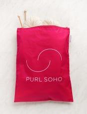 Purl Soho Recycled Zip Bag from Baggu, Magenta