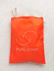 Purl Soho Recycled Zip Bag from Baggu, Orange